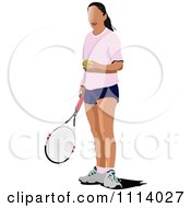 Clipart Female Tennis Player 7 Royalty Free Vector Illustration