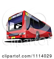 Clipart Red City Bus 2 Royalty Free Vector Illustration by leonid