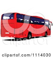 Clipart Red City Bus 1 Royalty Free Vector Illustration by leonid