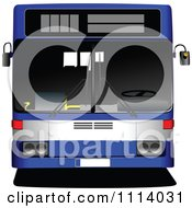 Clipart Blue City Bus Royalty Free Vector Illustration by leonid