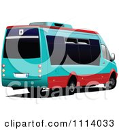 Clipart Turquoise Mini Bus Royalty Free Vector Illustration by leonid