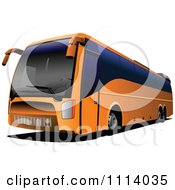 Clipart Orange City Bus With Tinted Windows Royalty Free Vector Illustration by leonid