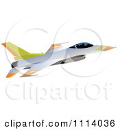 Clipart Jet Plane 2 Royalty Free Vector Illustration
