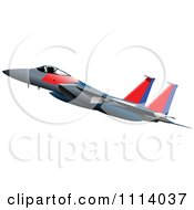 Clipart Jet Plane 1 Royalty Free Vector Illustration