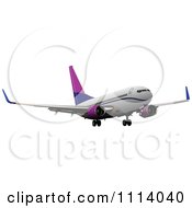 Clipart Commercial Jumbo Jet Airliner Passenger Plane 9 Royalty Free Vector Illustration