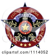 Clipart Sheriff Badge 1 Royalty Free Vector Illustration