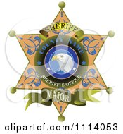 Clipart Sheriff Badge 2 Royalty Free Vector Illustration