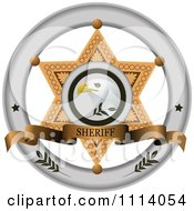 Clipart Sheriff Badge 3 Royalty Free Vector Illustration