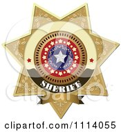 Clipart Sheriff Badge 4 Royalty Free Vector Illustration