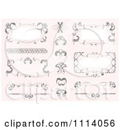 Clipart Ornate Design Elements On Pastel Pink 2 Royalty Free Vector Illustration by leonid