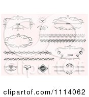 Clipart Ornate Design Elements On Pastel Pink 1 Royalty Free Vector Illustration by leonid