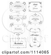 Clipart Frame Design Elements With Sample Text 2 Royalty Free Vector Illustration by leonid