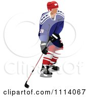 Clipart Hockey Player 1 Royalty Free Vector Illustration by leonid