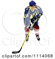 Clipart Hockey Player 2 Royalty Free Vector Illustration by leonid