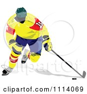 Clipart Hockey Player 3 Royalty Free Vector Illustration by leonid