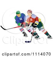 Clipart Hockey Players Royalty Free Vector Illustration by leonid