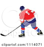 Clipart Hockey Player 4 Royalty Free Vector Illustration by leonid