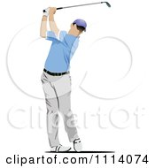 Clipart Golfing Man 1 Royalty Free Vector Illustration by leonid
