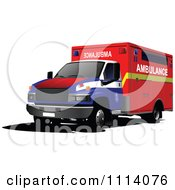 Clipart Emergency Ambulance 2 Royalty Free Vector Illustration