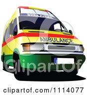 Clipart Emergency Ambulance 3 Royalty Free Vector Illustration