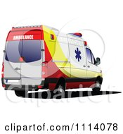 Clipart Emergency Ambulance 4 Royalty Free Vector Illustration