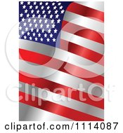 Clipart American Stars And Stripes Flag Background 2 Royalty Free Vector Illustration