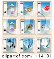 Clipart Folder Icons Royalty Free Vector Illustration