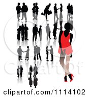 Clipart Silhouetted Business People Royalty Free Vector Illustration