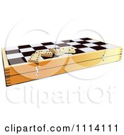 Clipart Dominoes On A Chess Board Box Royalty Free Vector Illustration by leonid