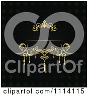 Clipart Vintage Ornate Gold And Black Wedding Background Royalty Free Vector Illustration