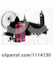Clipart Phone Booths Big Ben And The London Eye Royalty Free Vector Illustration