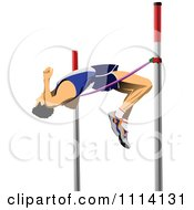 Clipart Pole Vaulter Royalty Free Vector Illustration by leonid