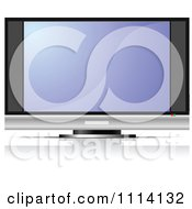 Clipart TV With Built In Speakers Royalty Free Vector Illustration