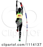 Clipart Pole Vaulter 1 Royalty Free Vector Illustration