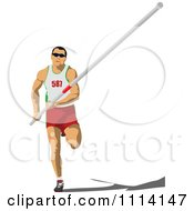 Clipart Pole Vaulter 2 Royalty Free Vector Illustration