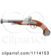 Clipart Pirate Black Smoke Gun Royalty Free Vector Illustration