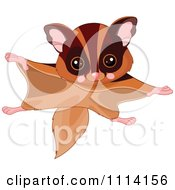 Clipart Cute Flying Squirrel Royalty Free Vector Illustration by Pushkin