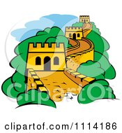Clipart The Great Wall Of China Royalty Free Vector Illustration