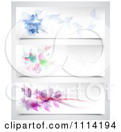 Clipart Abstract Floral Website Headers Royalty Free Vector Illustration
