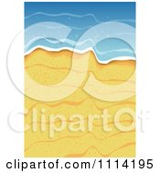 Clipart Golden Sand And Ocean Surf Royalty Free Vector Illustration by vectorace