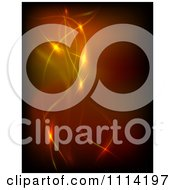 Clipart Background Of Glowing Orange And Red Lines Royalty Free Vector Illustration