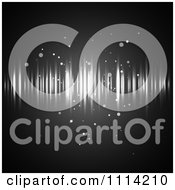 Clipart Background Of Streaks Of Light And Orbs On Black Royalty Free Vector Illustration