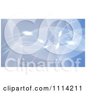 Clipart Blue Background Of Waves With Glowing Orbs Royalty Free Vector Illustration
