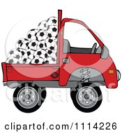 Clipart Kei Truck With Soccer Balls Royalty Free Vector Illustration by djart