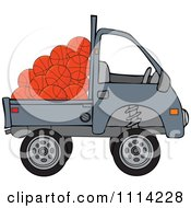 Clipart Kei Truck With Basketballs Royalty Free Vector Illustration
