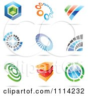 Clipart Abstract 3d Logos With Shadows 1 Royalty Free Vector Illustration