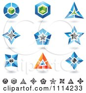 Clipart Abstract 3d Logos With Shadows 2 Royalty Free Vector Illustration
