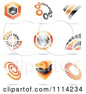 Clipart Abstract 3d Logos With Shadows 3 Royalty Free Vector Illustration