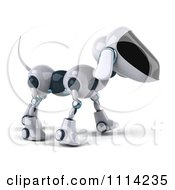 Clipart 3d Robot Dog Royalty Free CGI Illustration by Julos