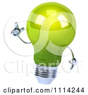 Clipart 3d Green Lightbulb With An Idea Royalty Free CGI Illustration